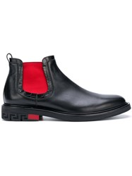 Versace Elasticated Side Panel Boots Black