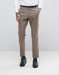 Selected Homme Skinny Suit Trousers Sand Brown