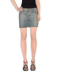 Roy Rogers Roy Roger's Denim Denim Skirts Women Blue
