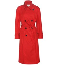 Etoile Isabel Marant Dani Cotton Blend Trench Coat Red