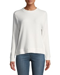Knot Sisters Jenna Thermal Knit Top Off White