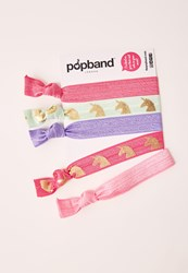 Missguided Pop Band 5 Pack Hair Ties Unicorn Multi