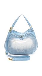 Liebeskind Vega Denim Satchel Blue