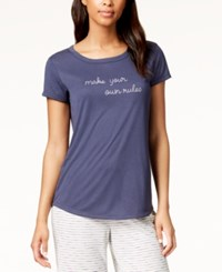 By Jennifer Moore Embroidered Graphic Pajama Top Own Rules