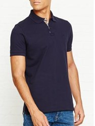 Aquascutum London Hilton Ss Piquet Polo Navy