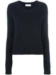 Faith Connexion V Neck Jumper Blue