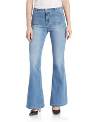 Dittos Rosie Pocket Flare Jeans Medium Blue