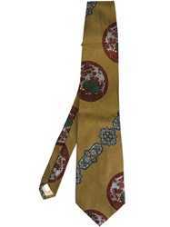Moschino Vintage Printed Tie Brown