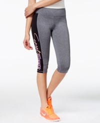 Material Girl Active Juniors' Cropped Graphic Leggings Only At Macy's Heather Charcoal