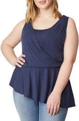 Rebel Wilson X Angels Plus Size Faux Wrap Tank Parisian Night