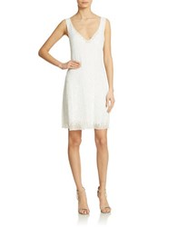 Basix Ii Sequined V Neck Sheath Dress White