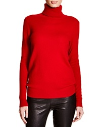 C By Bloomingdale's Turtleneck Cashmere Sweater Chili Pepper