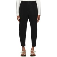 Homme Plisse Issey Miyake Black Pleated Tapered Trousers