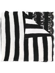 Ermanno Scervino Striped Scarf Black