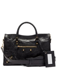 Balenciaga Classic City Leather Shoulder Bag Black