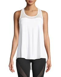 Michi Summit Split Back Racer Performance Tank White