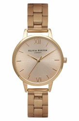 Olivia Burton Women's Midi Dial Bracelet Watch 30Mm Gold