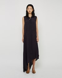 Marni Viscose Asymmetrical Neck Tie Dress