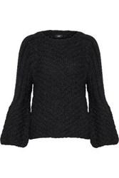 Line Beatrice Chunky Knit Wool Blend Sweater Black