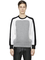 Neil Barrett Color Block Neoprene Sweatshirt Heather Grey