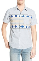 Men's Sol Angeles 'Ray' Trim Fit Short Sleeve Ikat Shirt