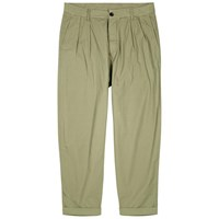 Albam Parachute Cropped Cotton Trousers Olive
