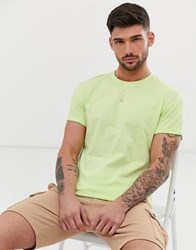 New Look Roll Sleeve T Shirt In Neon Yellow