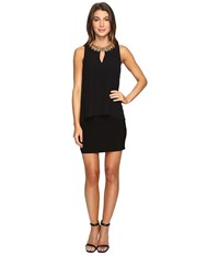Laundry By Shelli Segal Matte Jersey Popover Cocktail Dress Black Women's Dress