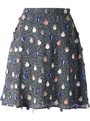 Marco De Vincenzo Printed Embellished Mini Skirt