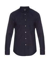John Varvatos Long Sleeved Cotton Shirt Navy