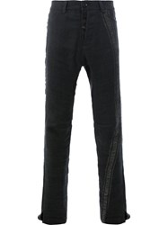 Cedric Jacquemyn Textured Panel Trousers Black