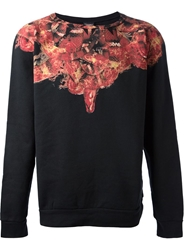 Marcelo Burlon County Of Milan Snake Print Sweater Black