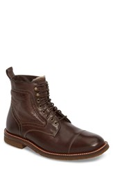Johnston And Murphy Men's Forrester Genuine Shearling Lined Cap Toe Boot