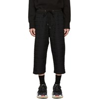 D.Gnak By Kang.D Black Zig Zag Trousers