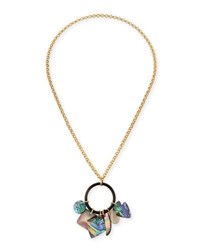 Nest Long Mother Of Pearl Pendant Necklace Gold