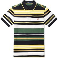 Fred Perry Bold Stripe Polo Green