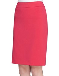 Tahari By Arthur S. Levine Solid Pencil Skirt Strawberry