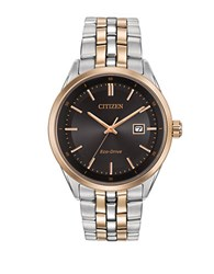 Citizen Mens Dress Eco Drive Two Tone Stainless Steel Bracelet Watch