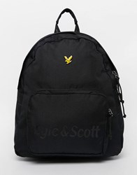 Lyle And Scott Diagonal Panel Backpack Black