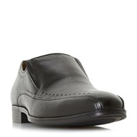 Howick Preaching Punched Tramline Loafer Shoes Black