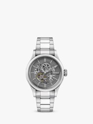 Ingersoll I06804 'S The Armstrong Automatic Chronograph Day Date Bracelet Strap Watch Silver