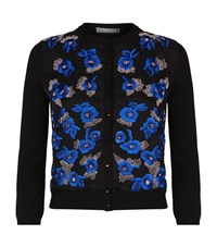 Oscar De La Renta Floral Embroidered Cardigan Female Multi