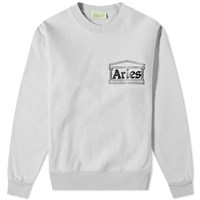 Aries Temple Logo Crew Sweat Grey