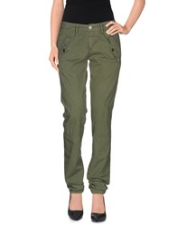 40Weft Trousers Casual Trousers Women Military Green
