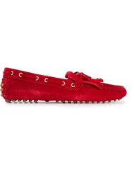 Car Shoe Fringed Driving Shoes Red