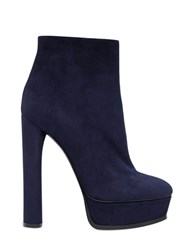Casadei 140Mm Suede Ankle Boots