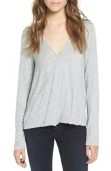 Lush Women's Surplice Tee Heather Grey