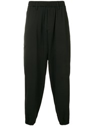 Yohji Yamamoto Regulation Casual Trousers Black