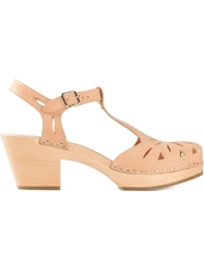 Swedish Hasbeens 'Lacy Debutant' Sandals Nude And Neutrals