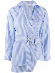Each X Other Striped Print Belted Shirt 60